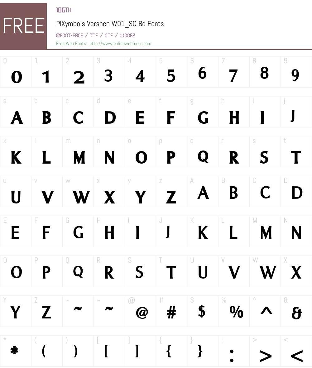 PIXymbolsVershenW01_SC-Bd Font Screenshots