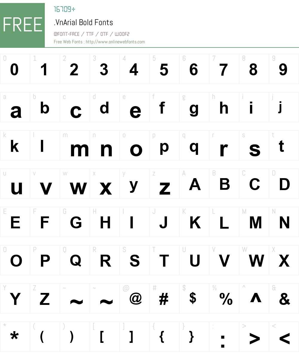 .VnArial Font Screenshots