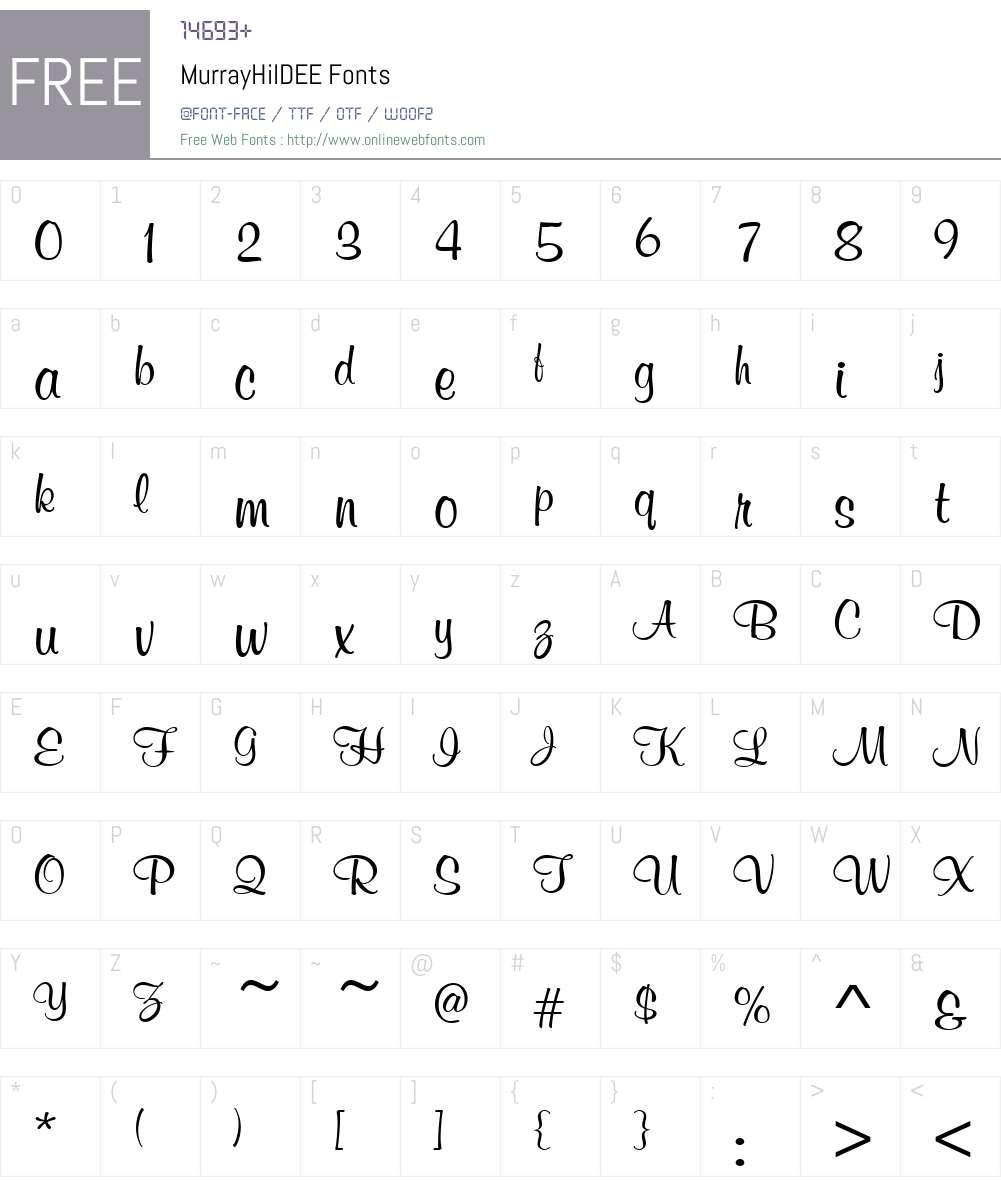 MurrayHilDEE Font Screenshots