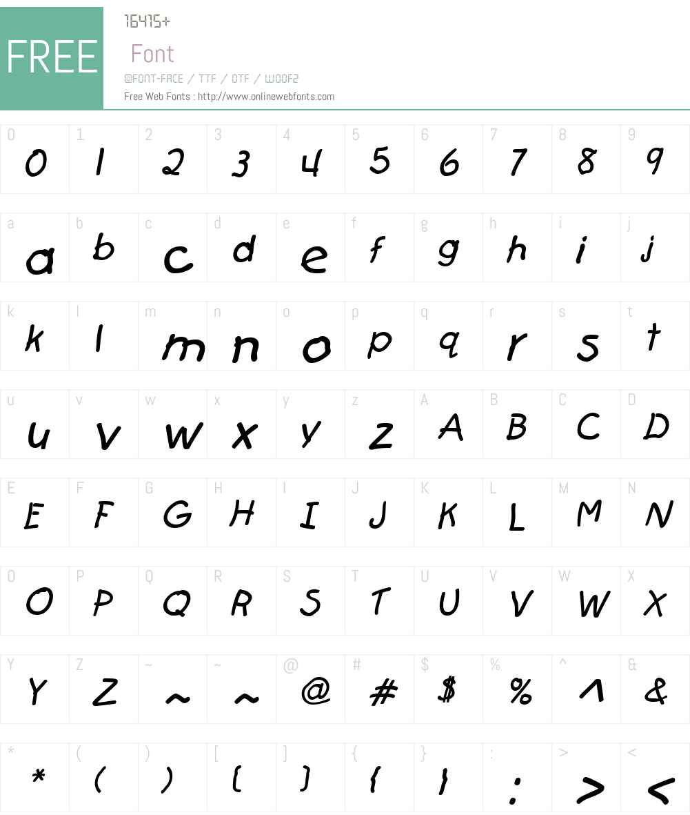 FirstGrader Font Screenshots