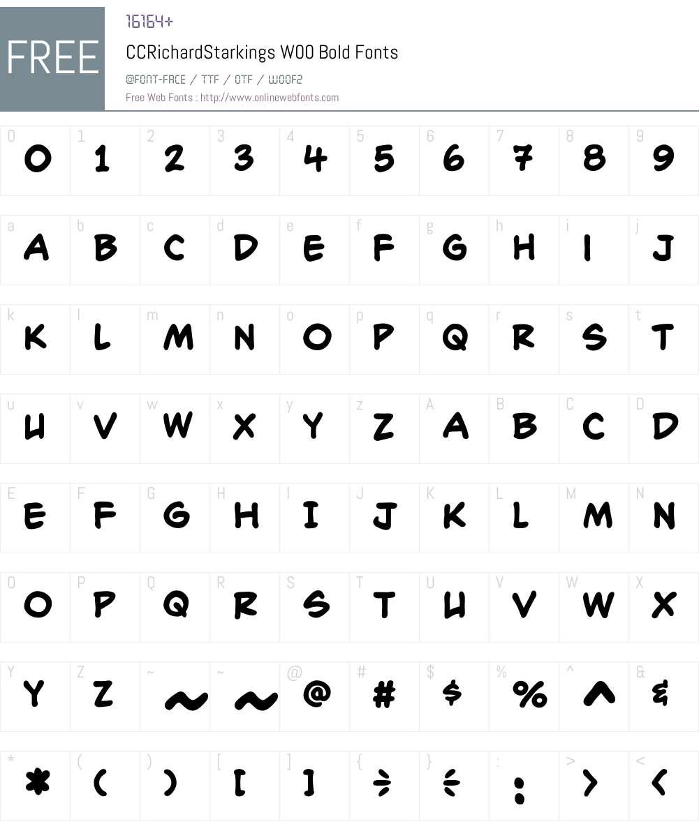 CCRichardStarkingsW00-Bold Font Screenshots