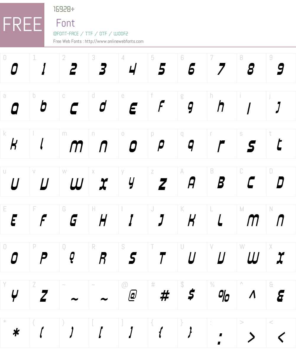 SF Plasmatica Cond Font Screenshots