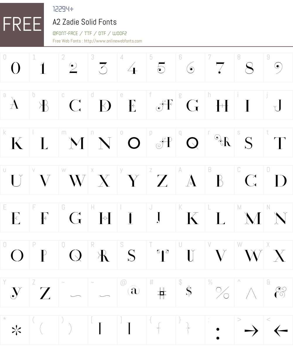 A2 Zadie Solid Font Screenshots