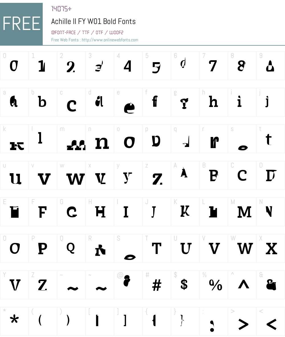 AchilleIIFYW01-Bold Font Screenshots