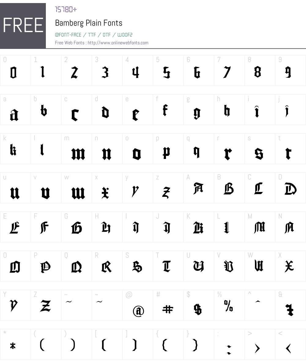 Bamberg Font Screenshots
