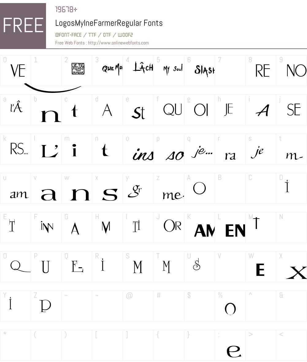 Logos Mylne Farmer Font Screenshots