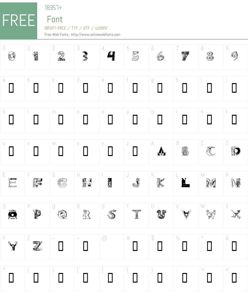 101! 'Ween Font Screenshots