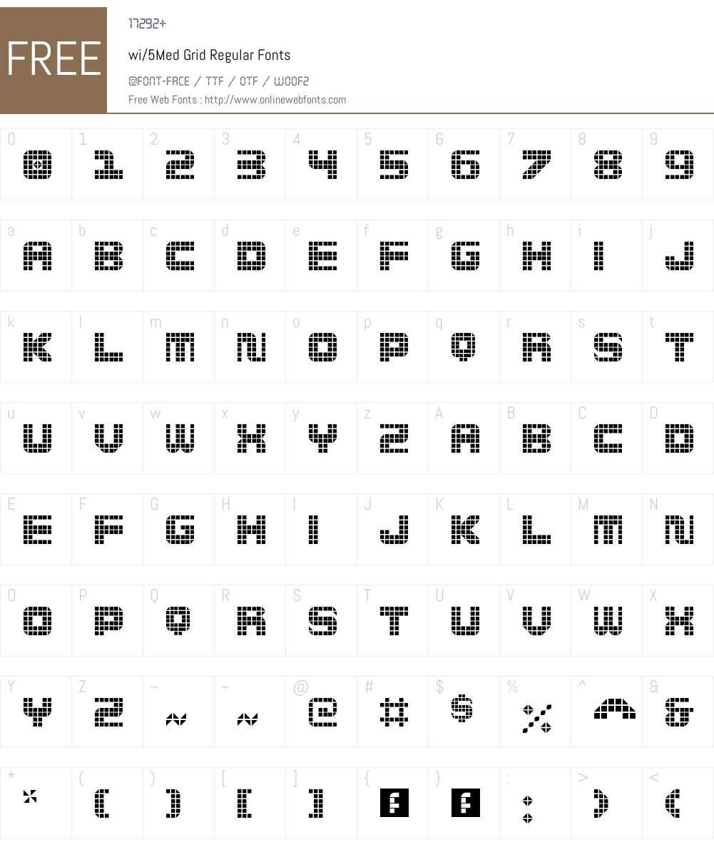 wi/5Med Grid Font Screenshots