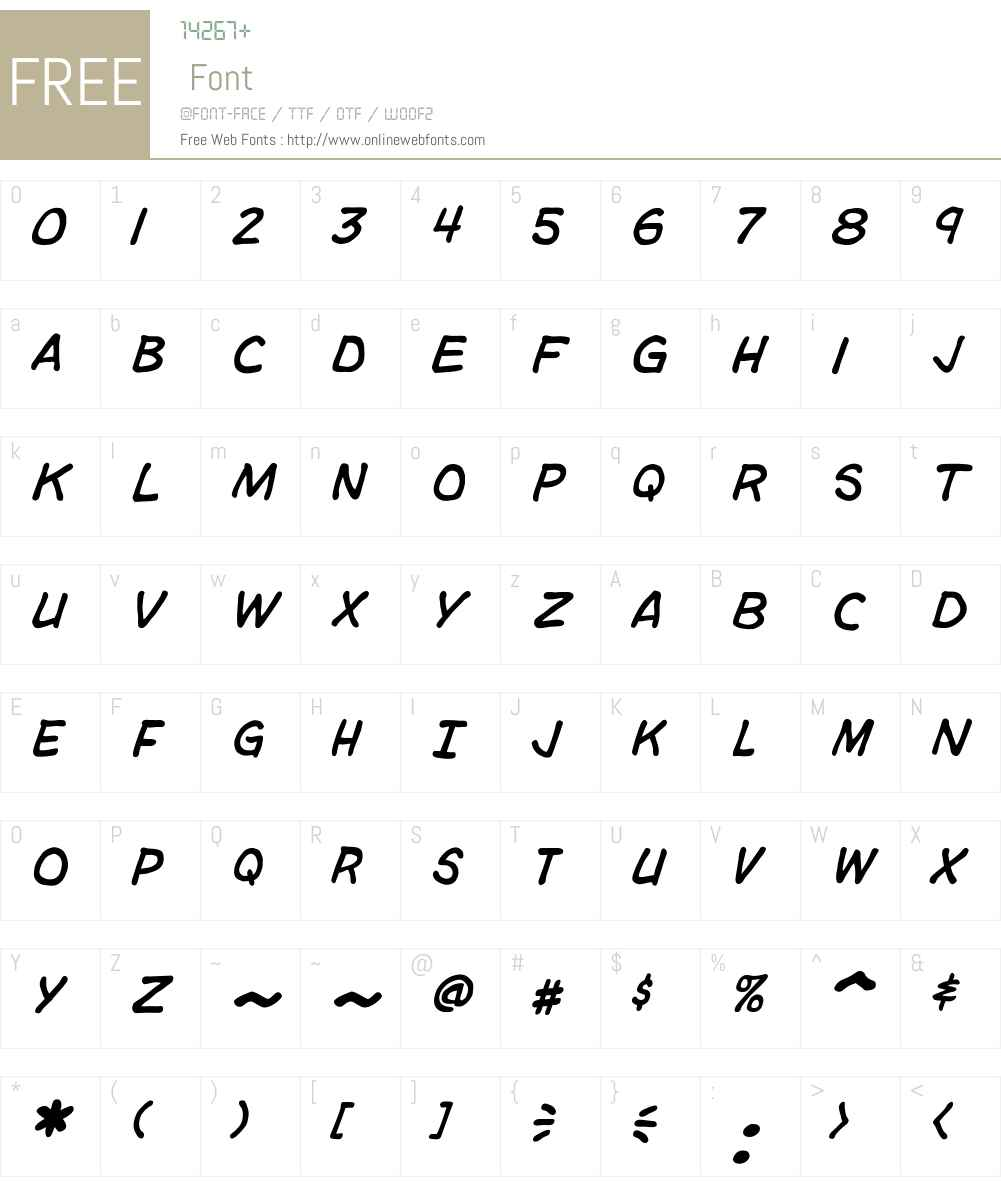 CCTimSaleW00-Italic Font Screenshots