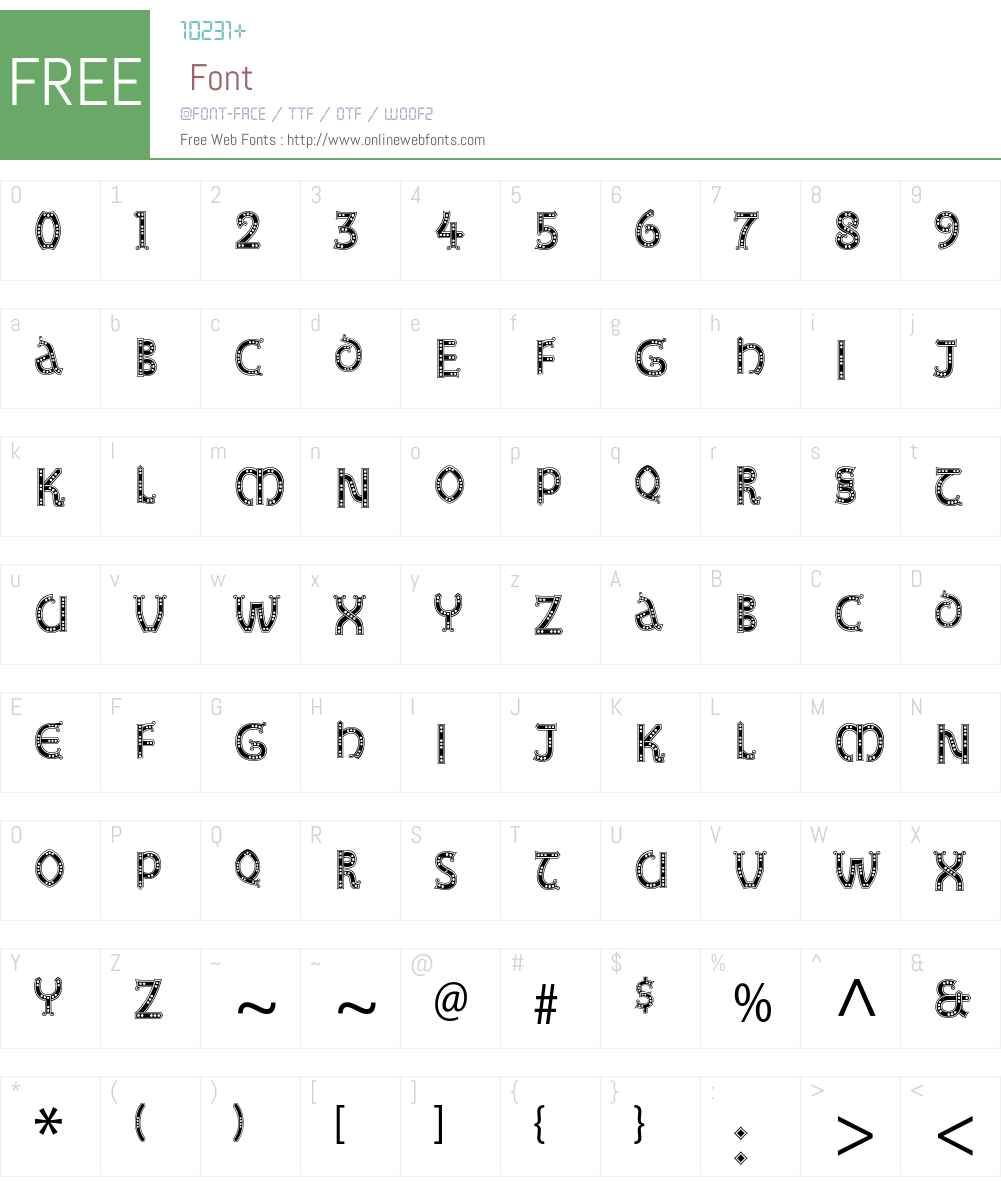 Studz Std Font Screenshots