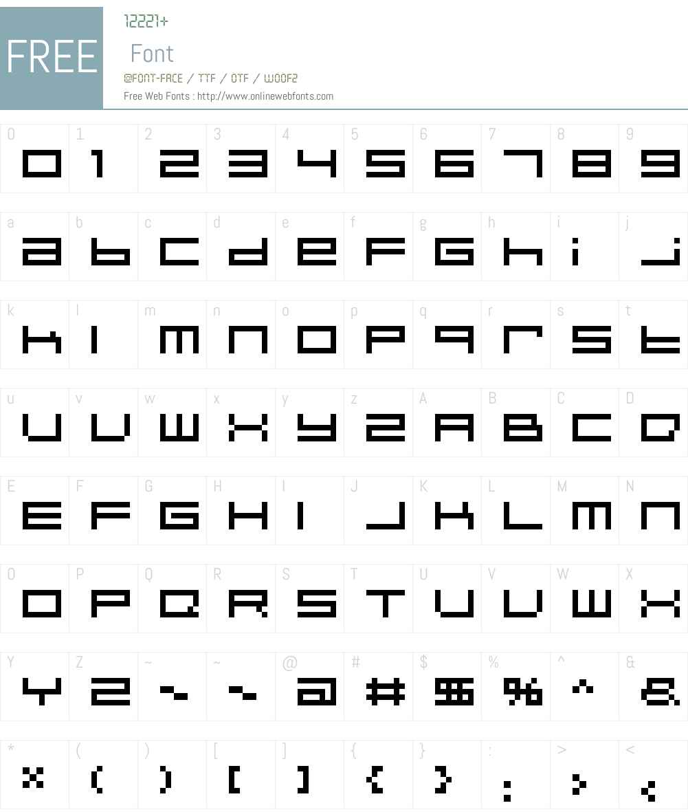 Psi Hoe Pate's Altern-8 Font Screenshots