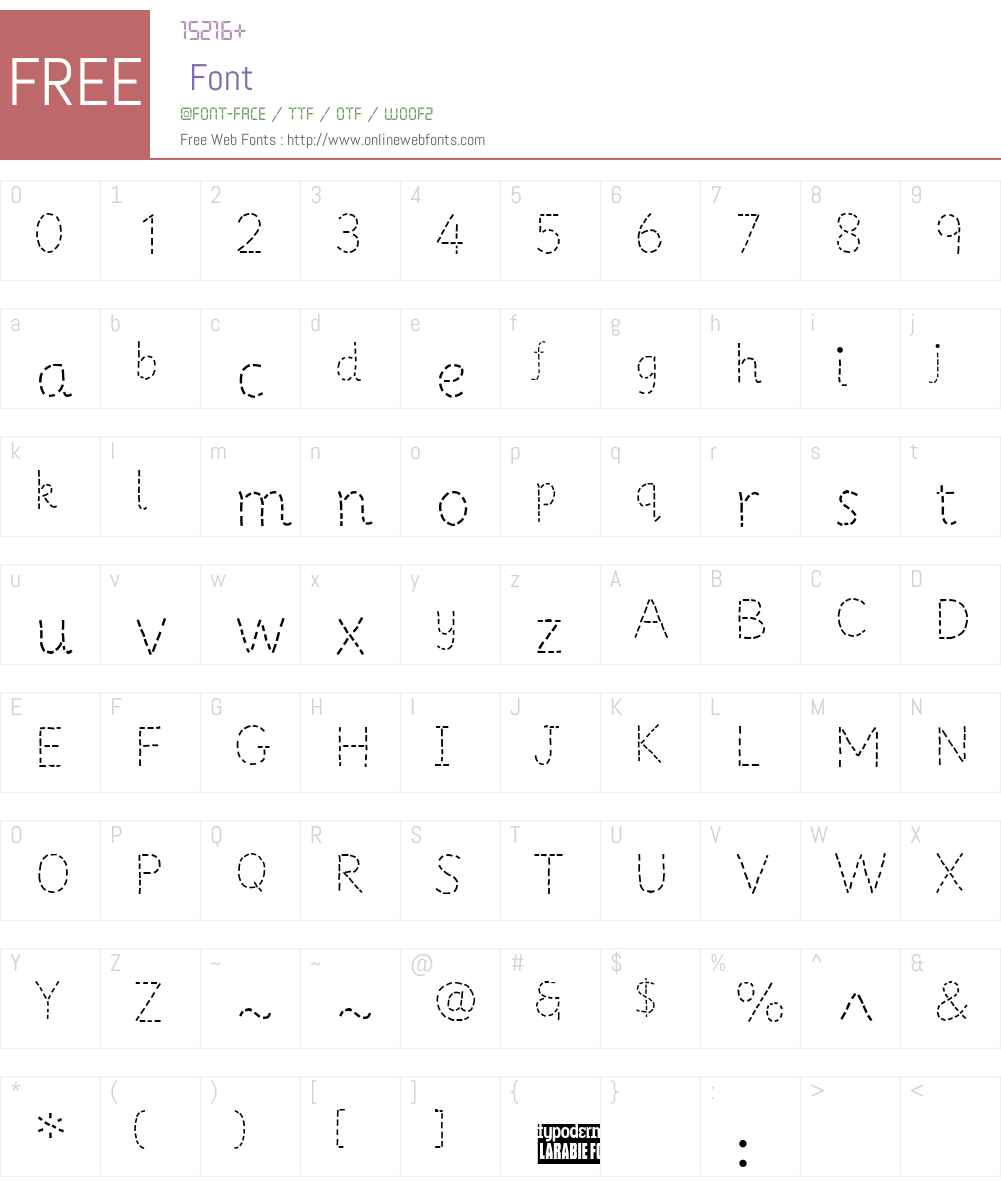 Primer Apples Font Screenshots
