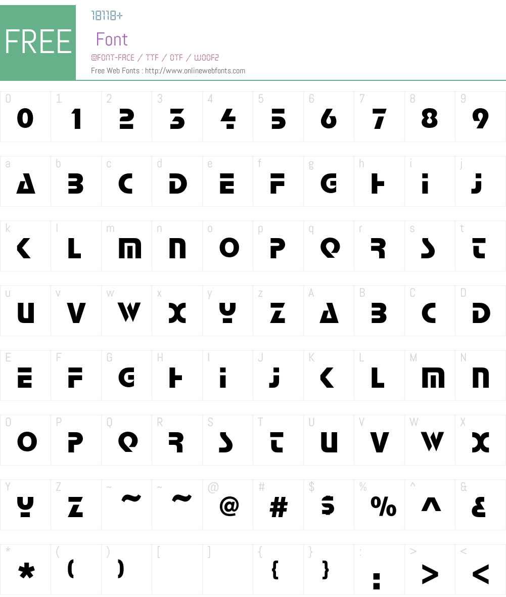 StopEF Font Screenshots