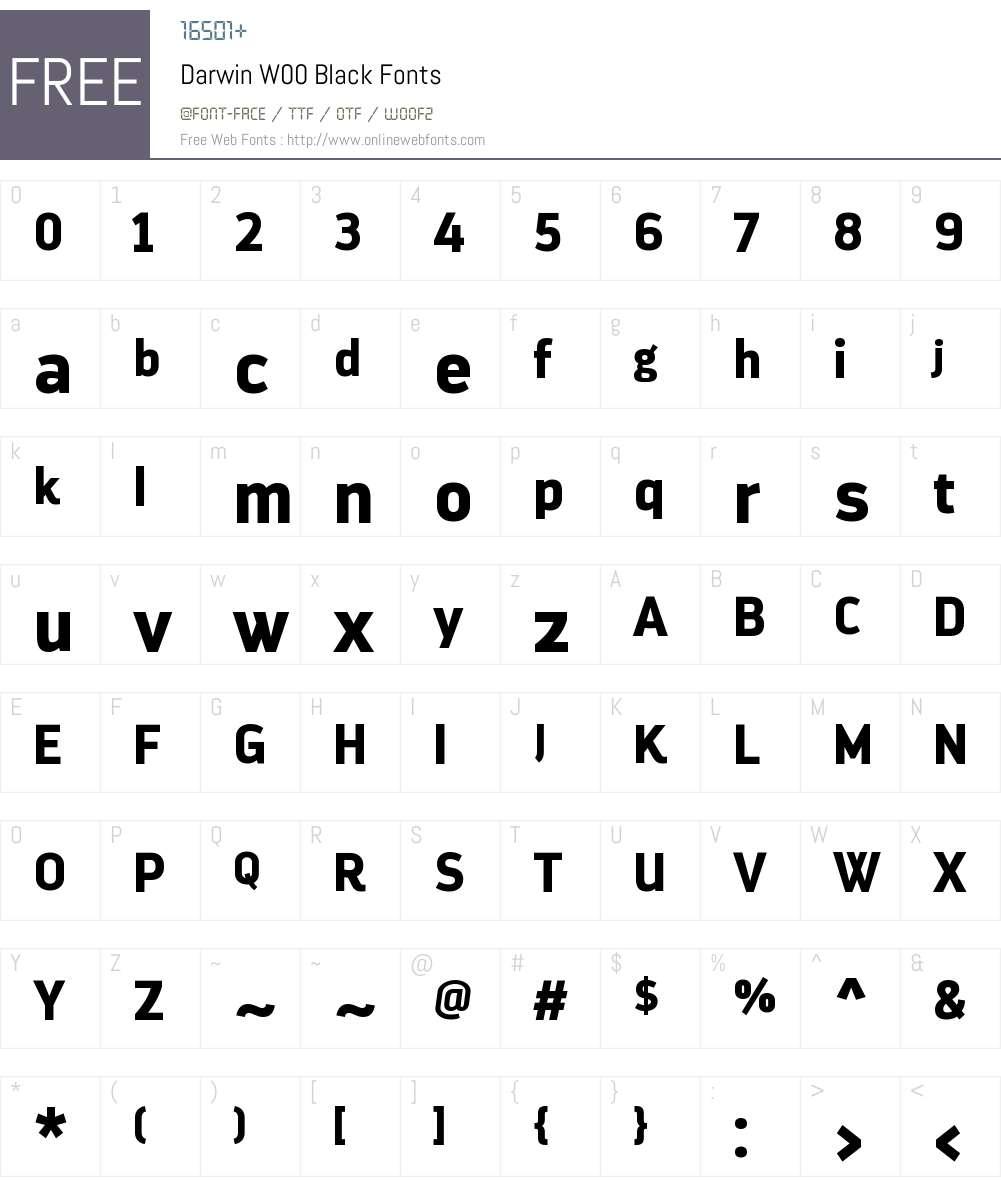 DarwinW00-Black Font Screenshots