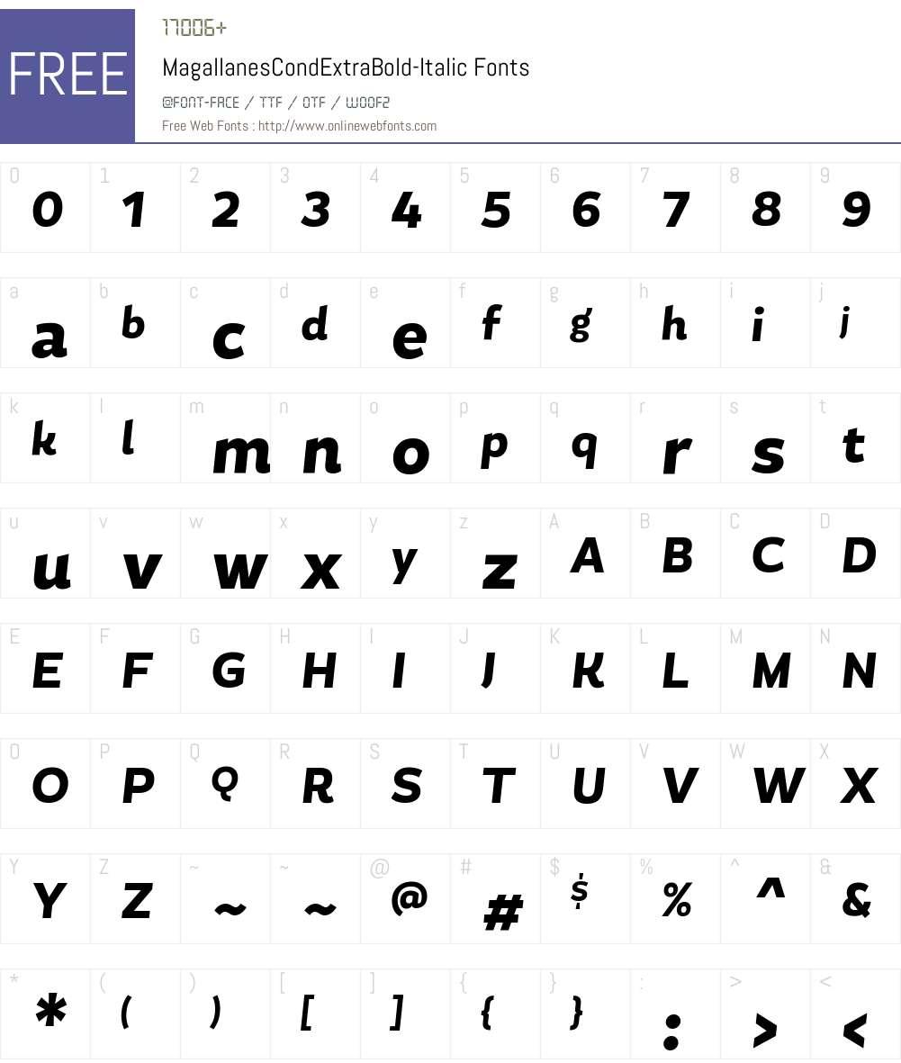 Magallanes Cond ExtraBold Font Screenshots