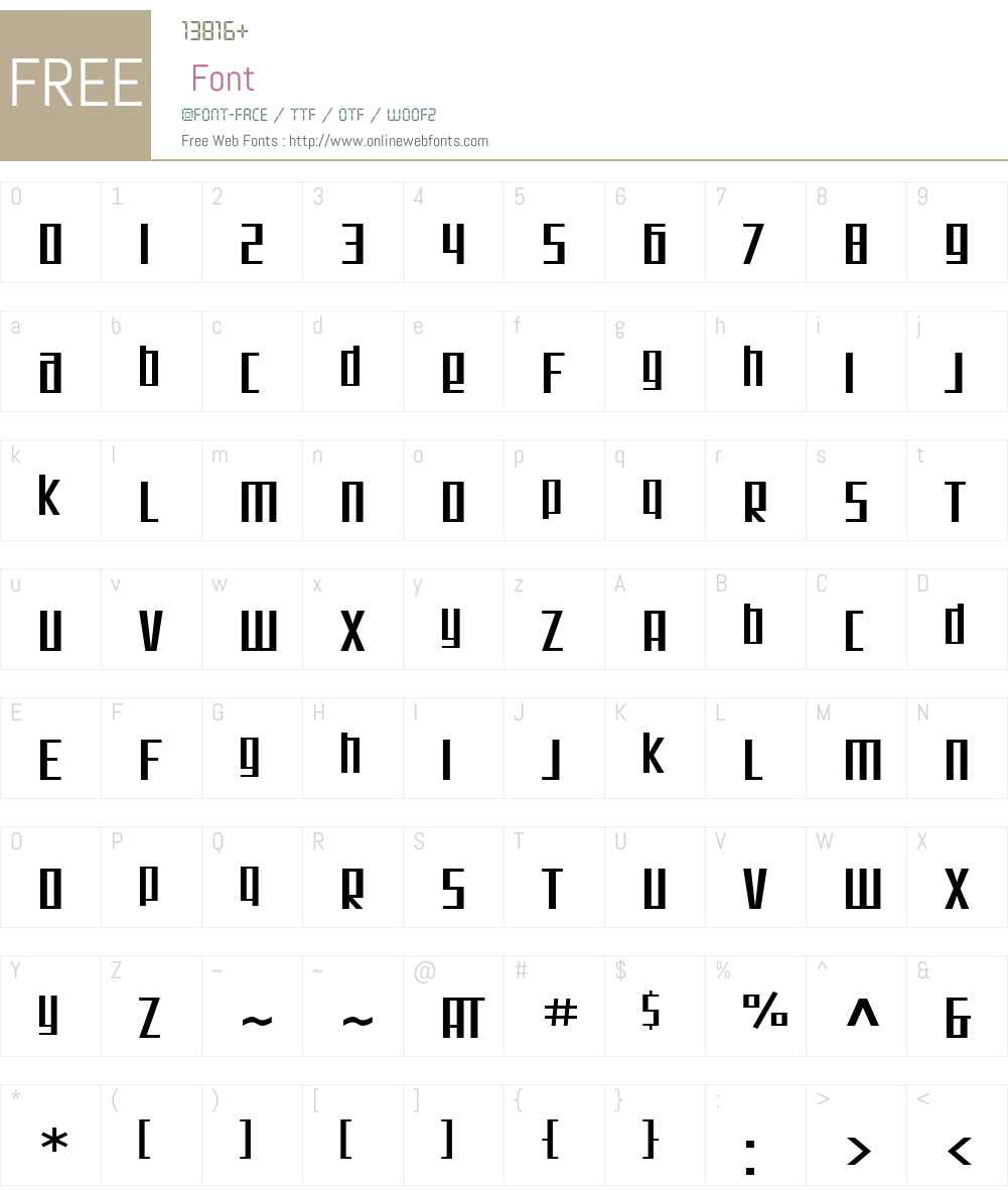 SF Square Root Extended Font Screenshots