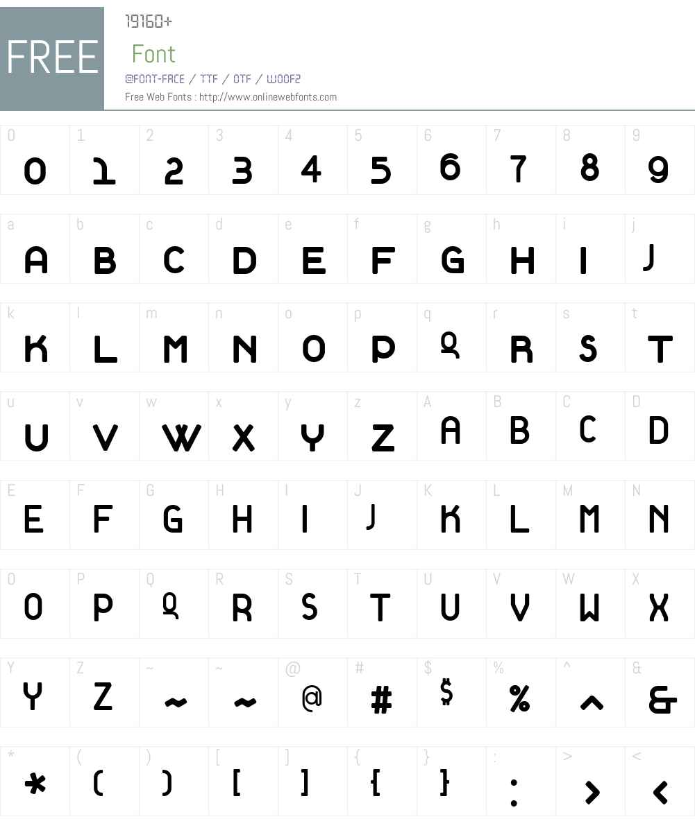 Tantalus Font Screenshots
