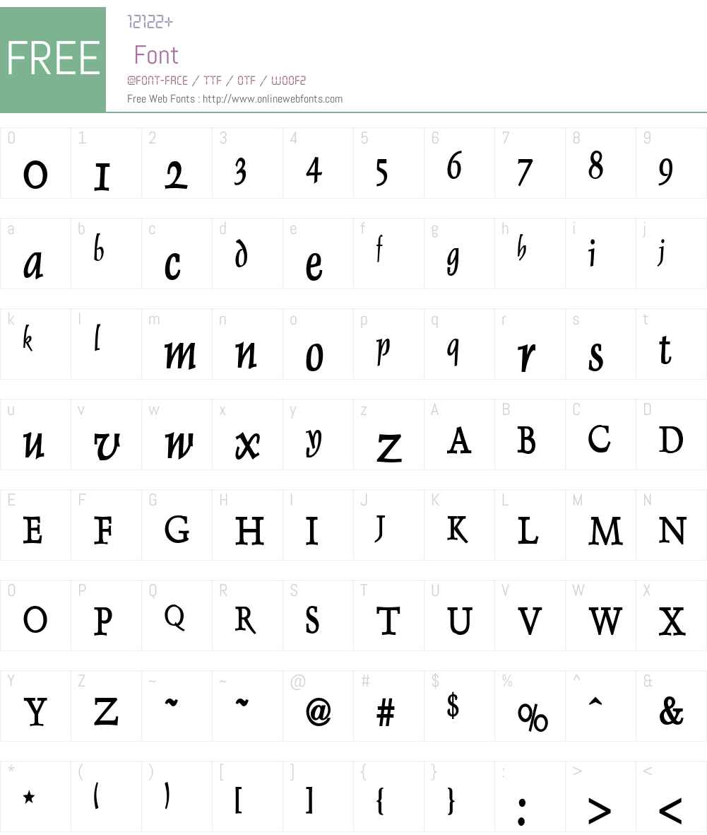 Dolphin Condensed Font Screenshots