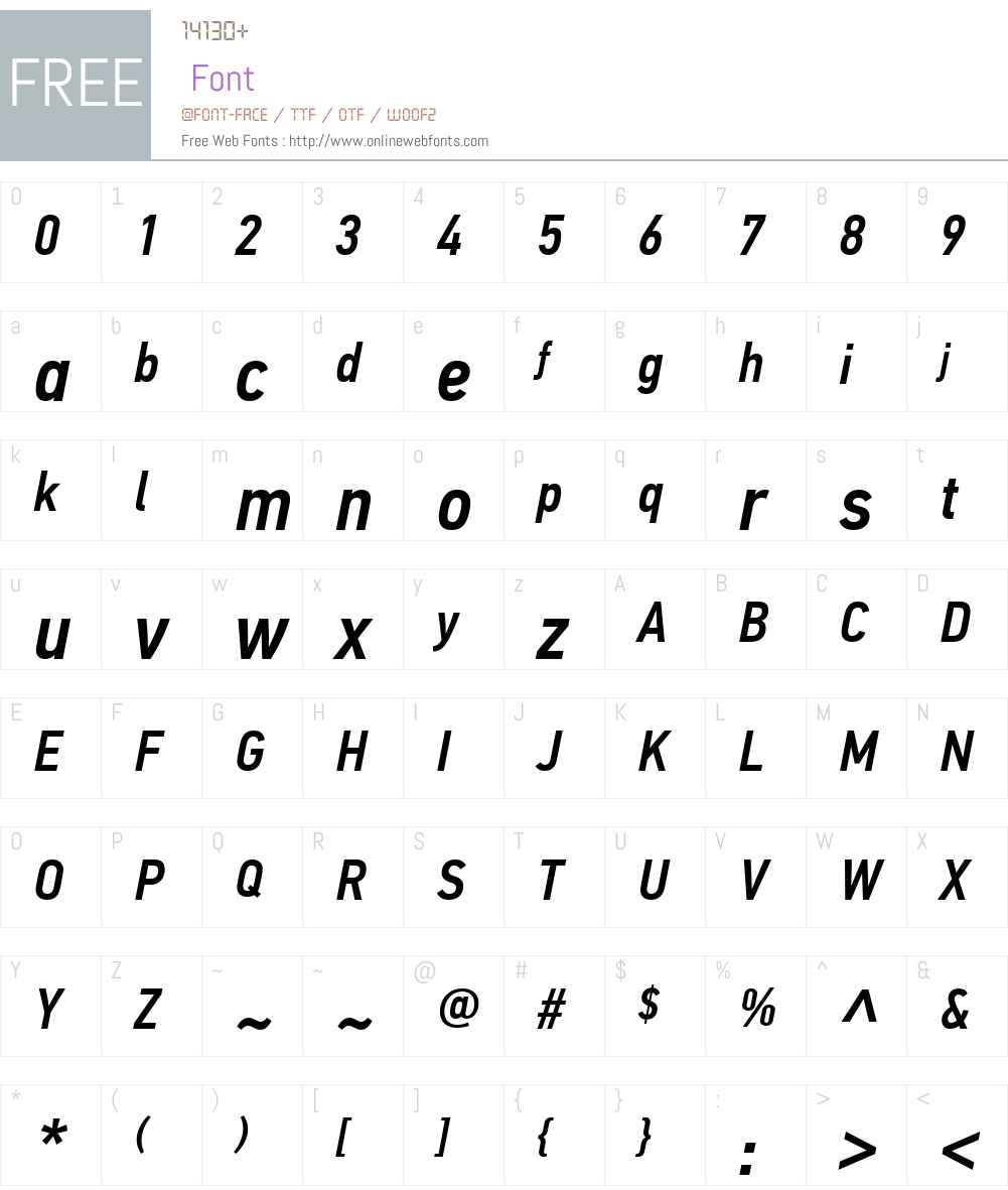 PF Din Text Cond Pro Font Screenshots