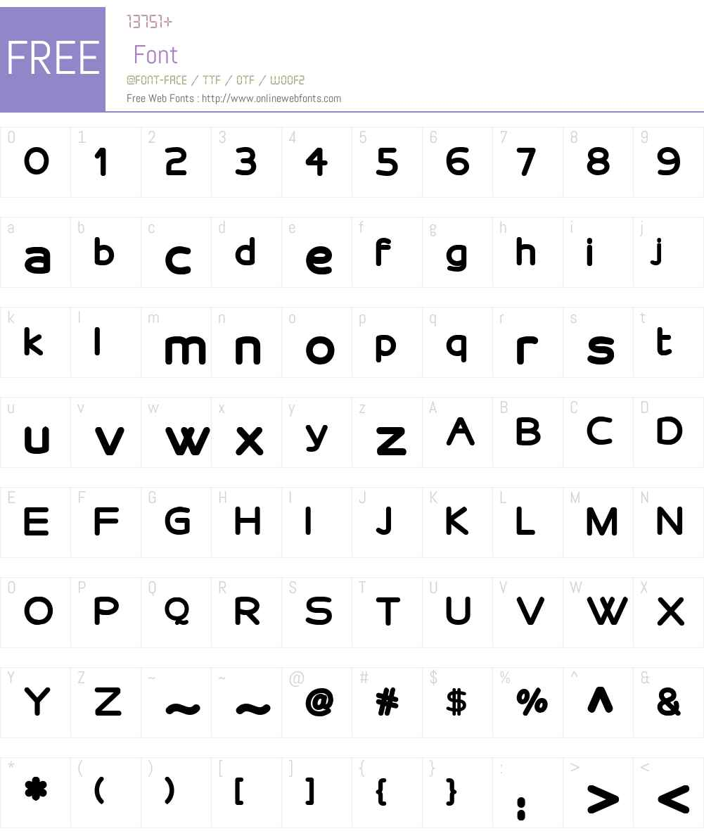 VelveteenRoundNFW01-Bold Font Screenshots