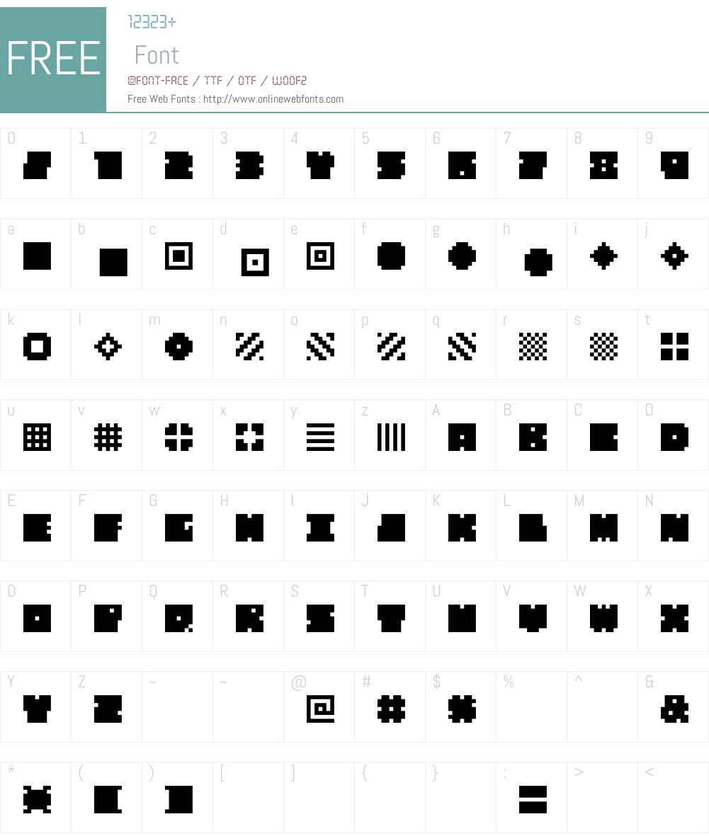 QUBE Font Screenshots