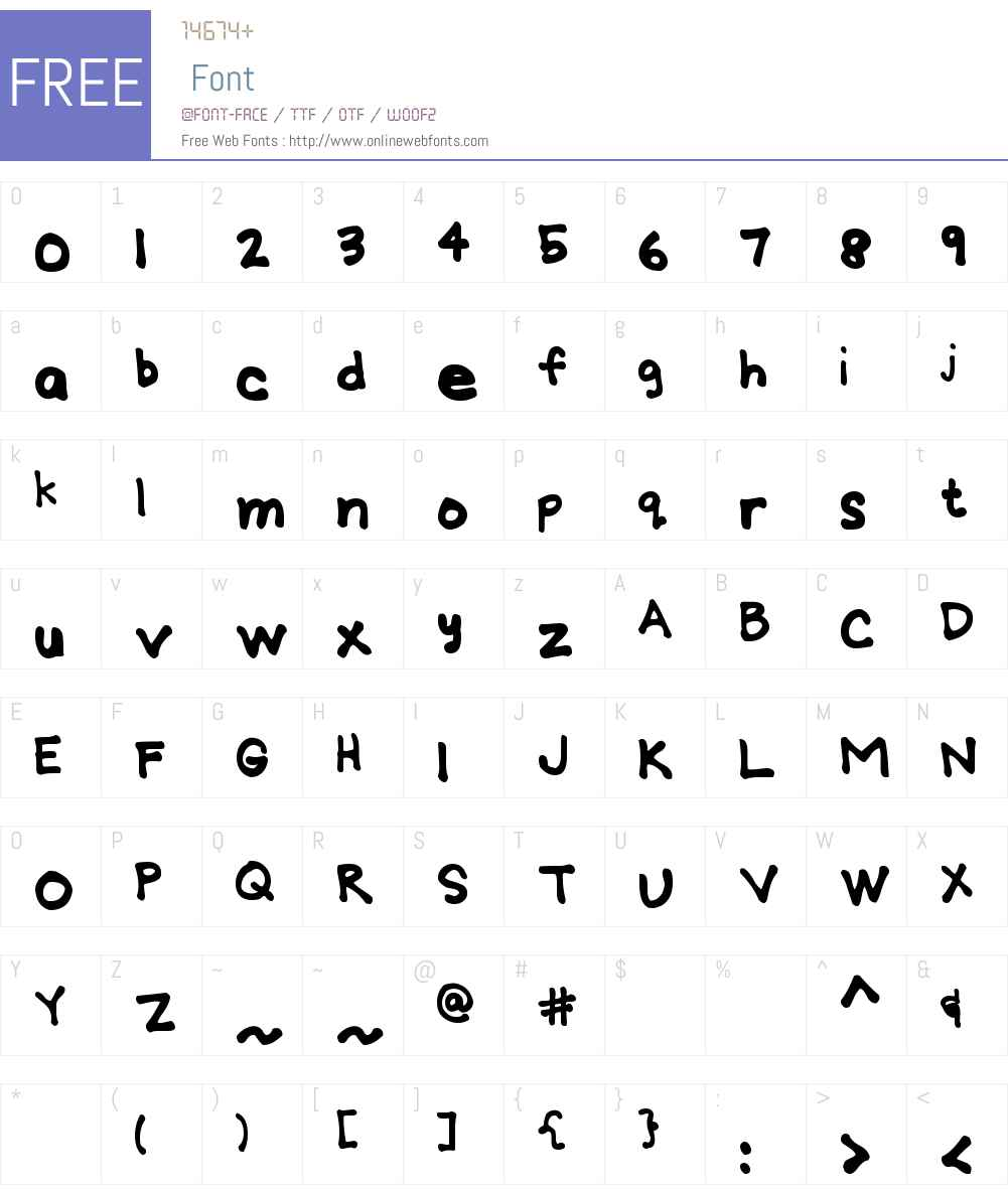MTF Gridie Font Screenshots