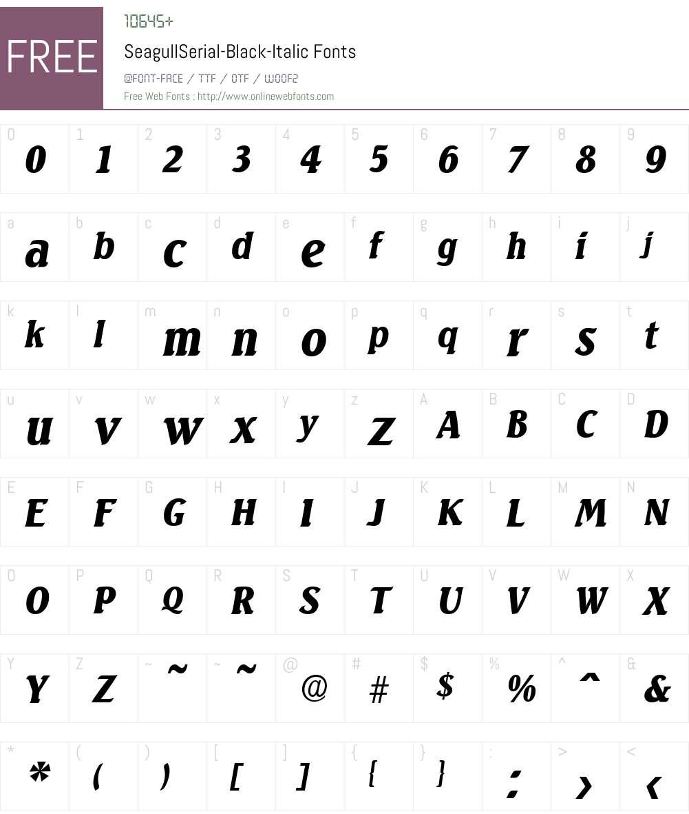 SeagullSerial-Black Font Screenshots