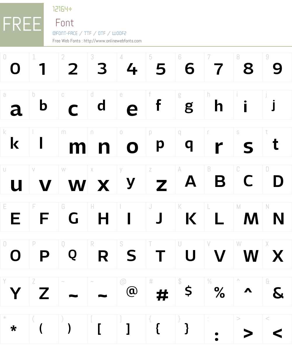 AdriaGroteskW00-Medium Font Screenshots