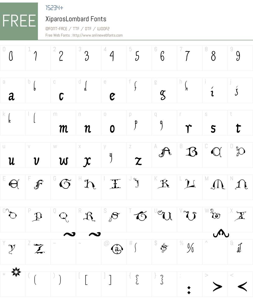 XiparosLombard Font Screenshots