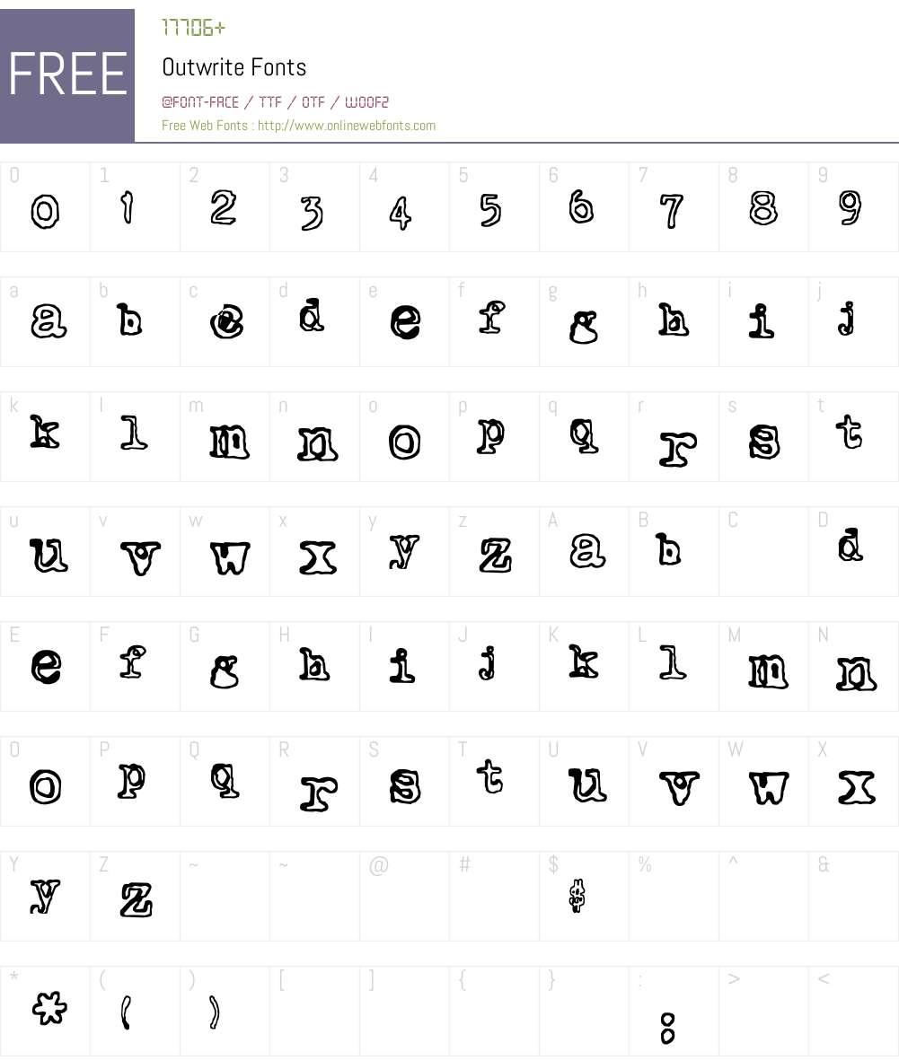 Outwrite Font Screenshots