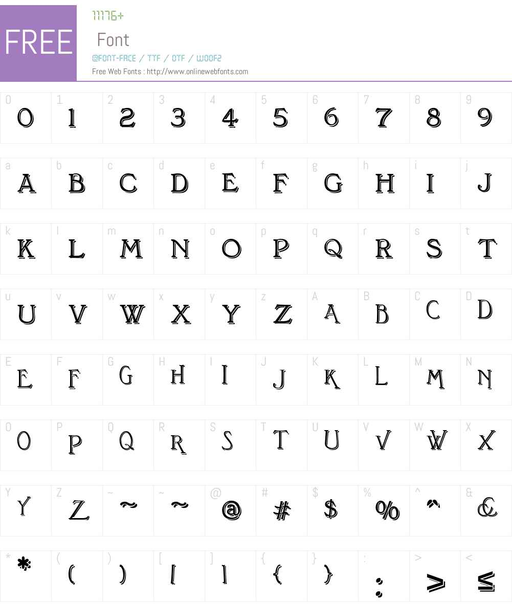 BonningtonBlackW01-Regular Font Screenshots