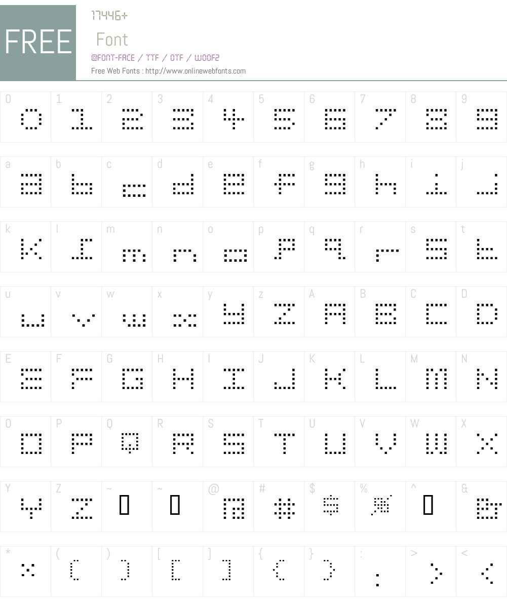 Gridder Font Screenshots