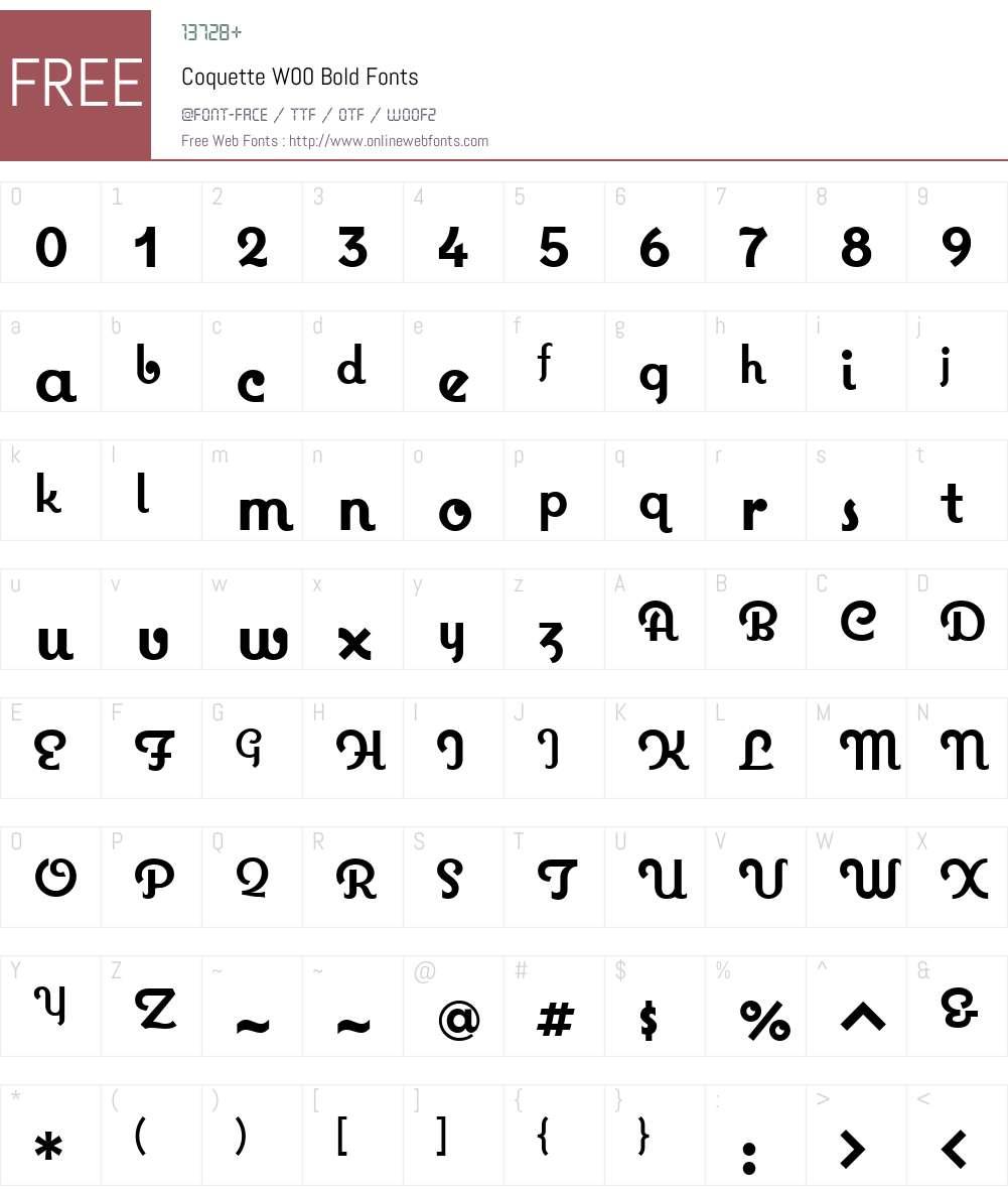 CoquetteW00-Bold Font Screenshots