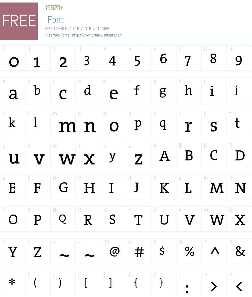 The Serif- Font Screenshots