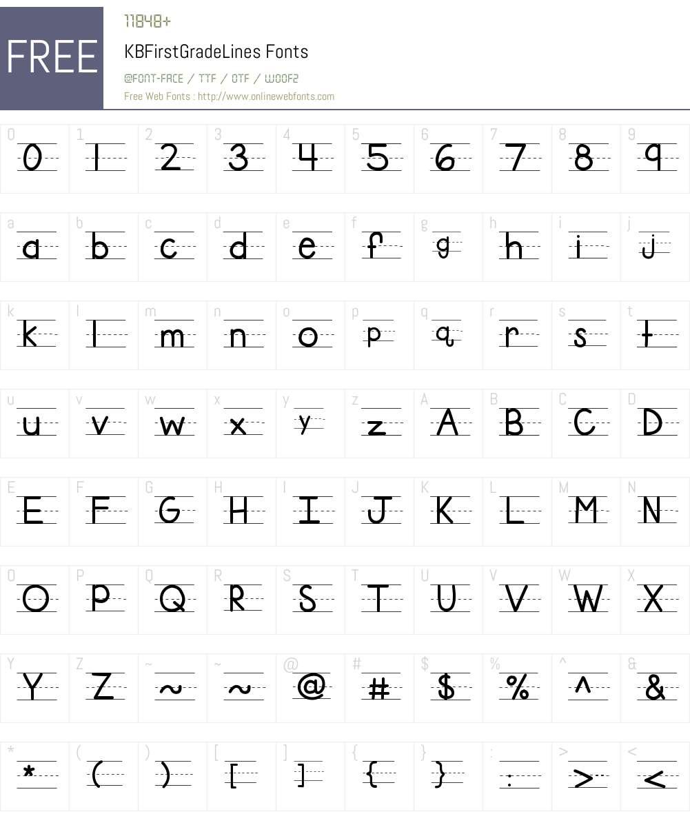 KBFirstGradeLines Font Screenshots