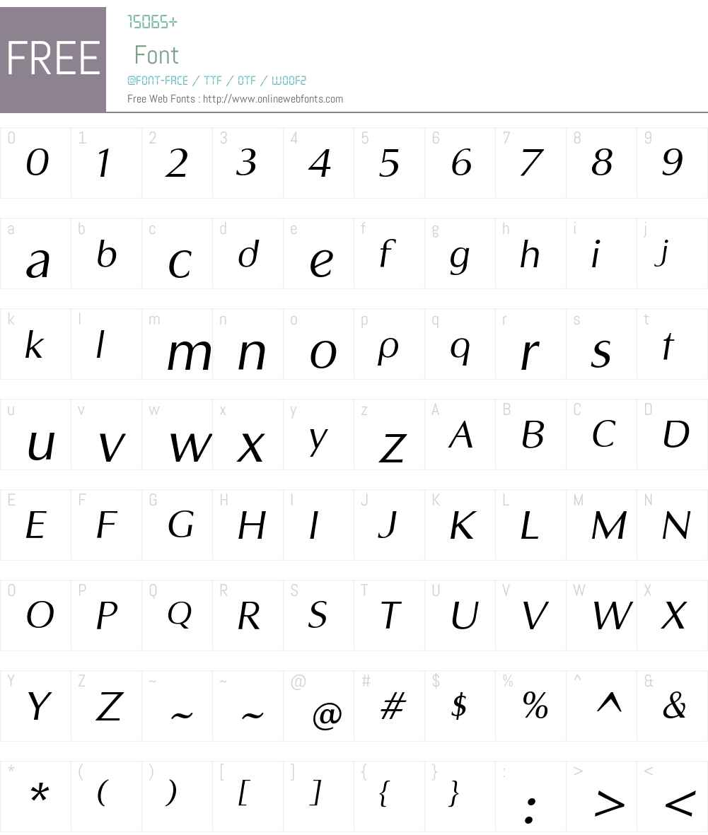 Sandena Book Italic Font Screenshots