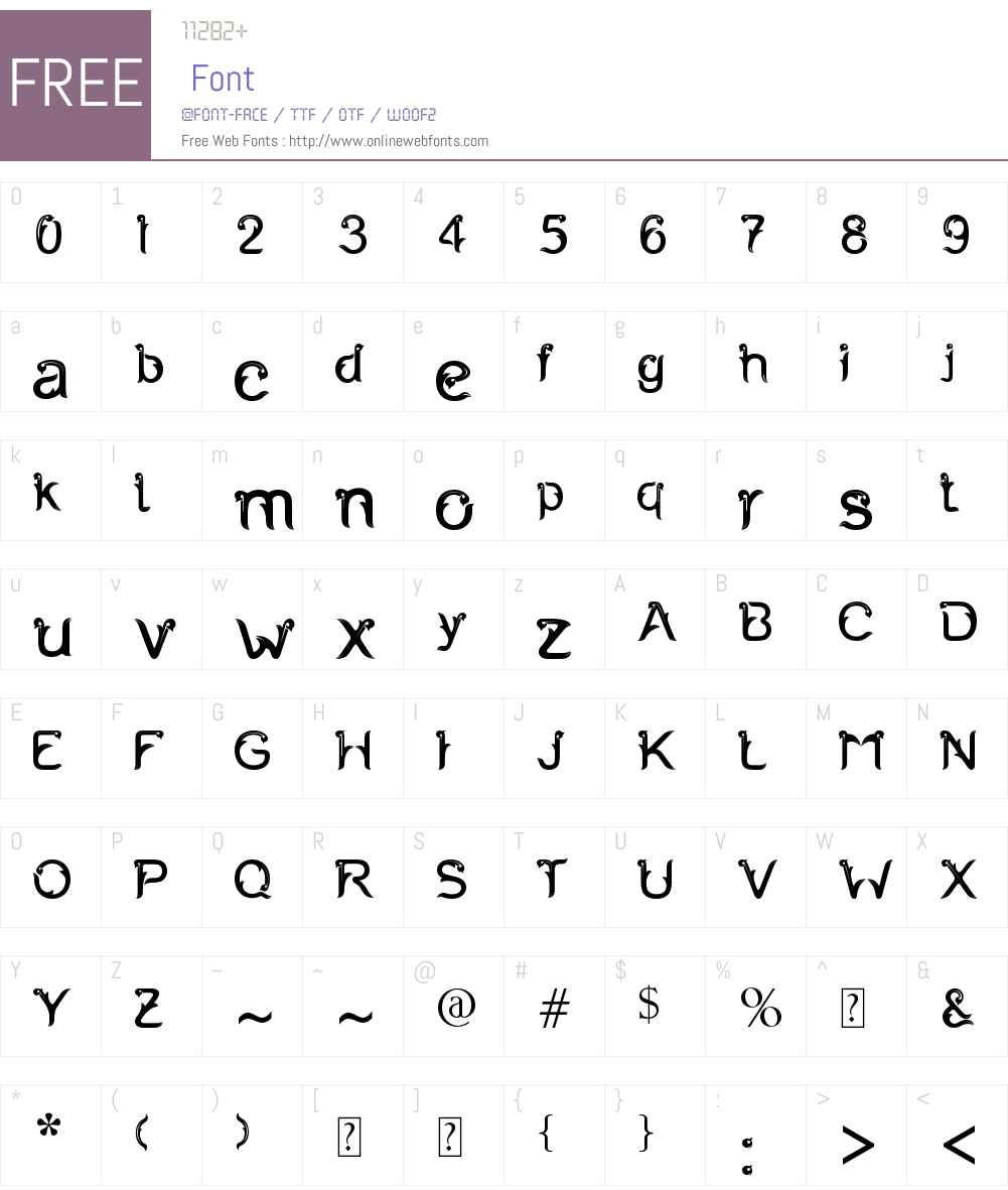 FERNANTA Font Screenshots