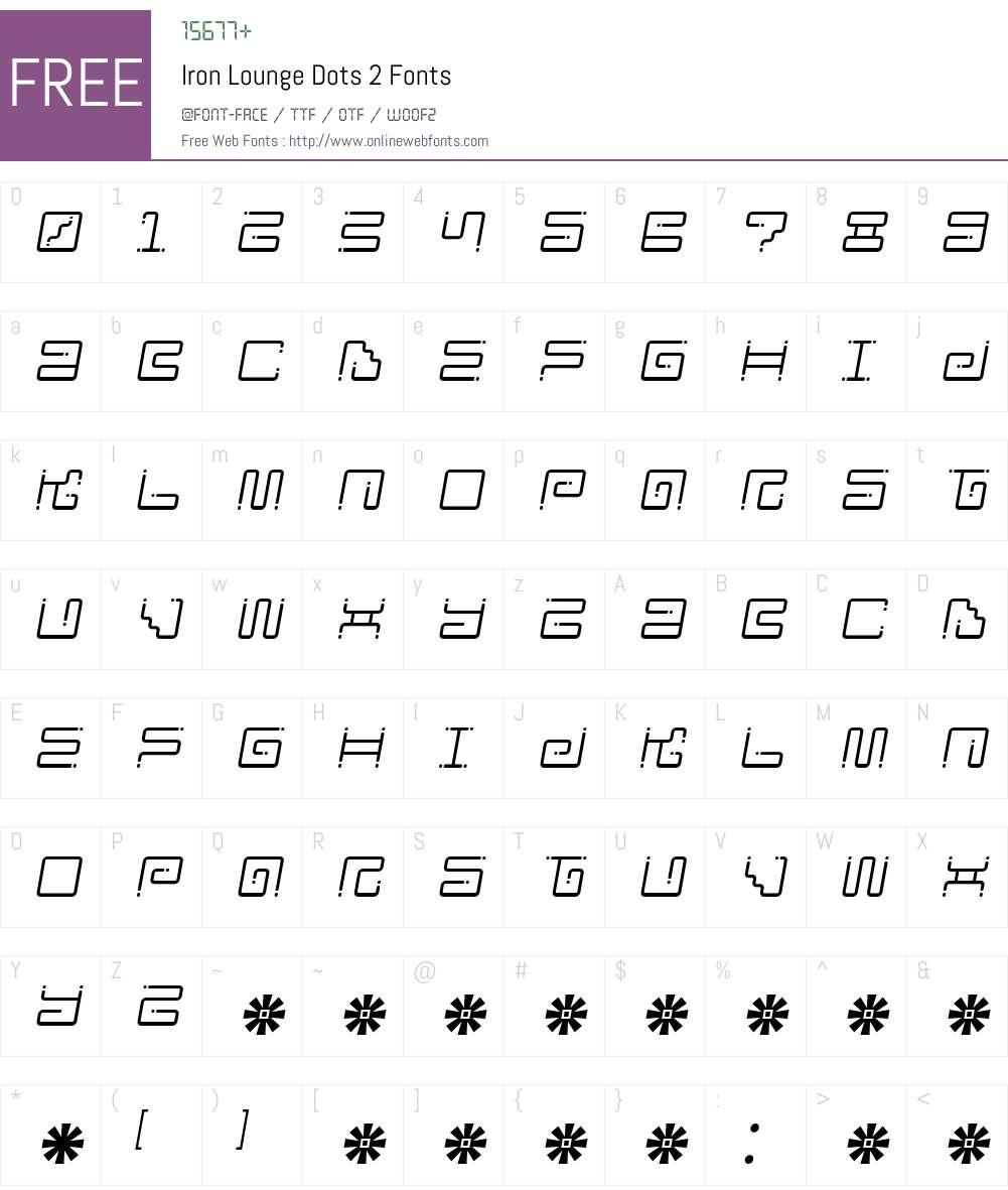 Iron Lounge Dots 2 Font Screenshots