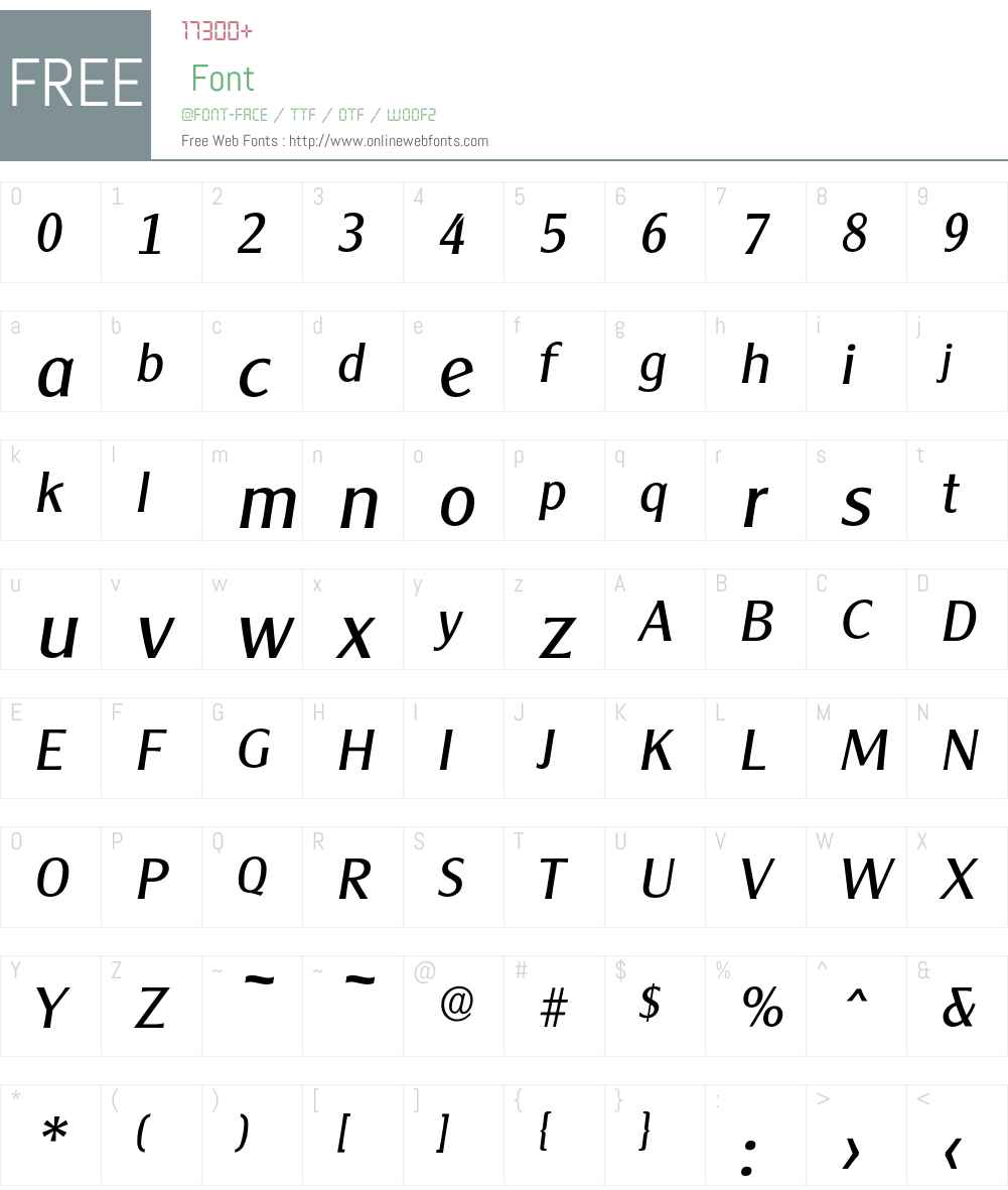 Cleargothic-RegularIta Font Screenshots