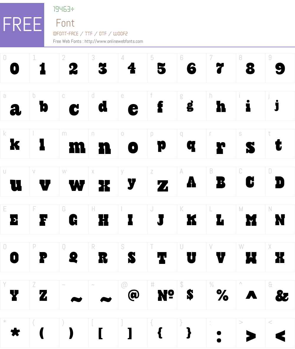 CowboyslangW00-Regular Font Screenshots