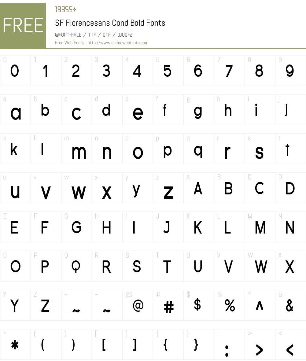 SF Florencesans Cond Font Screenshots