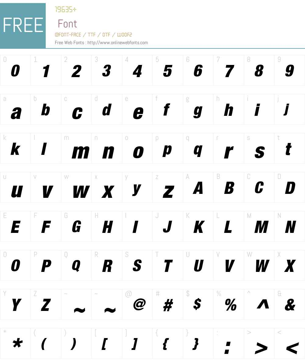 HelveticaNeueW01-BlackCnObl Font Screenshots