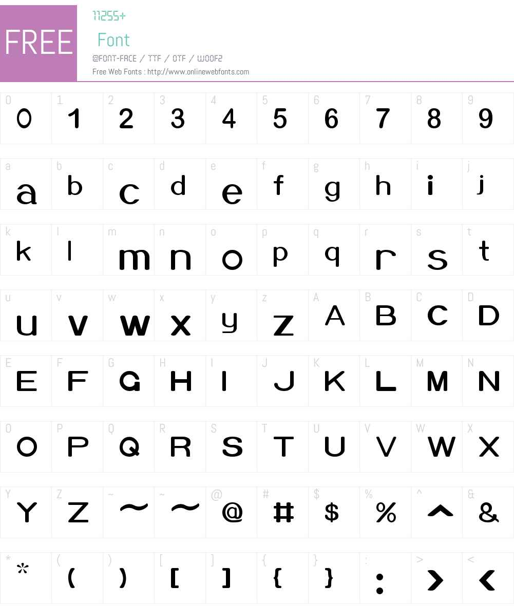 Xero Font Screenshots