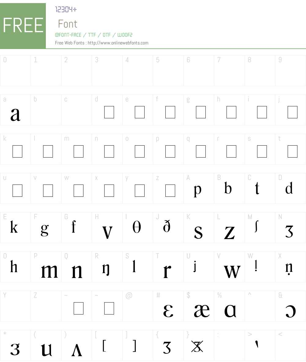 Phonetic Symbol Font Screenshots