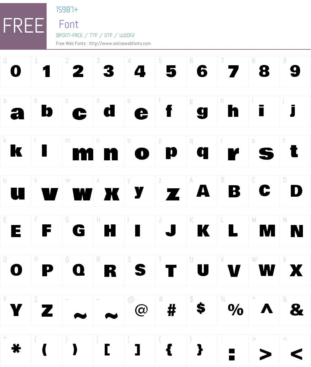 Bowlby One Font Screenshots