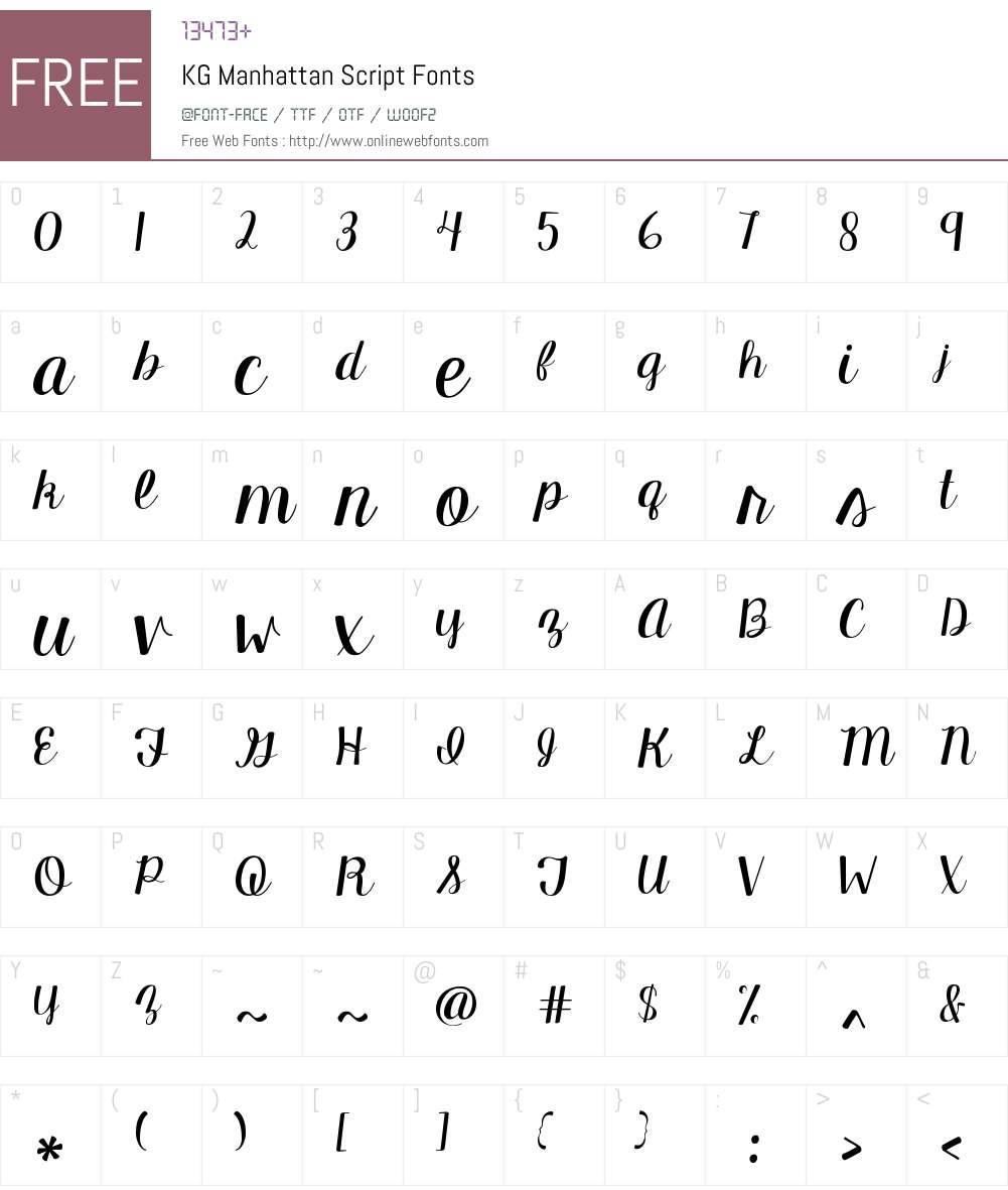 KG Manhattan Script Font Screenshots