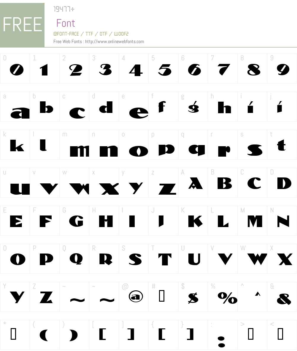 BlockCalligraphyExtended Font Screenshots