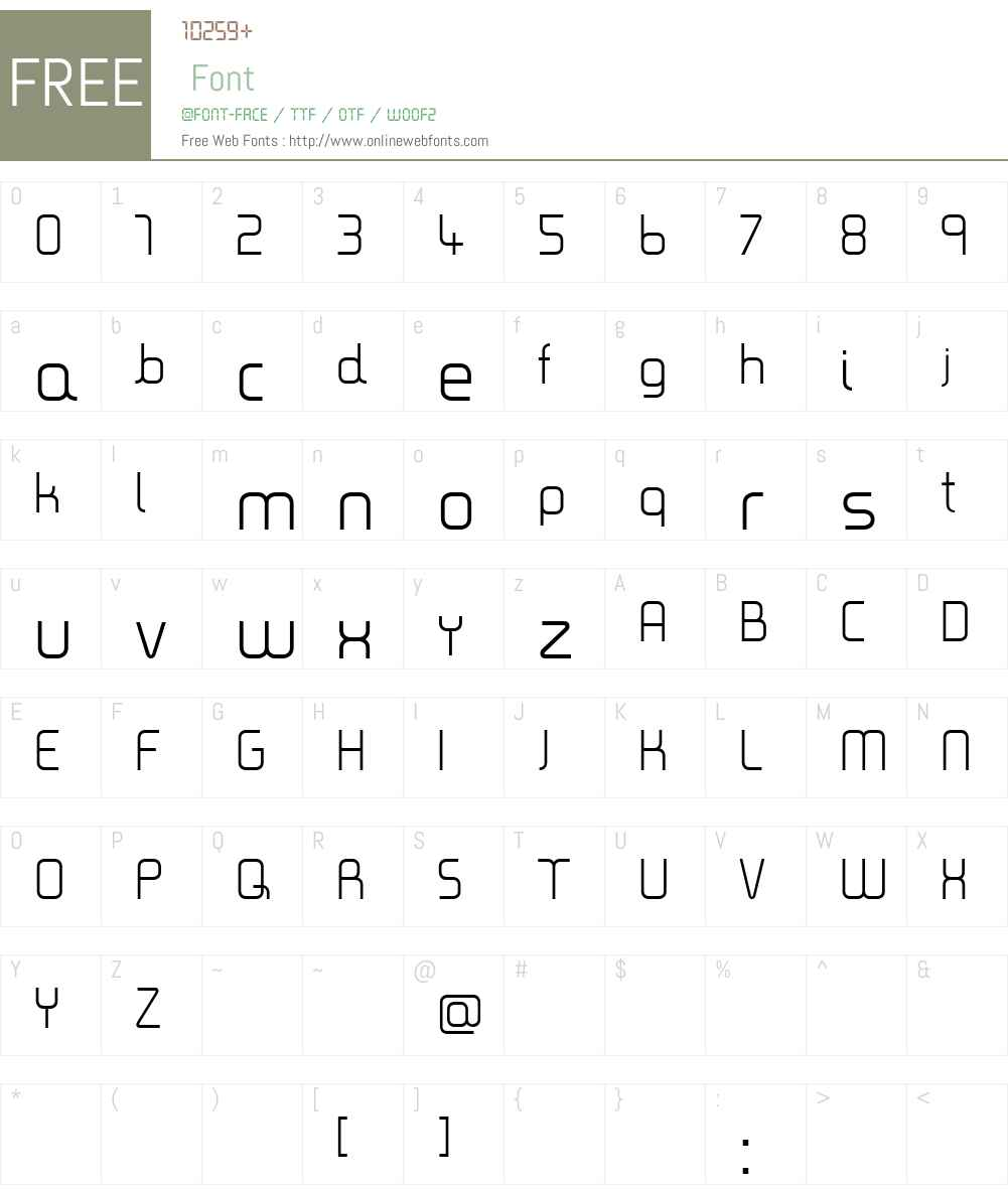 Timea Font Screenshots
