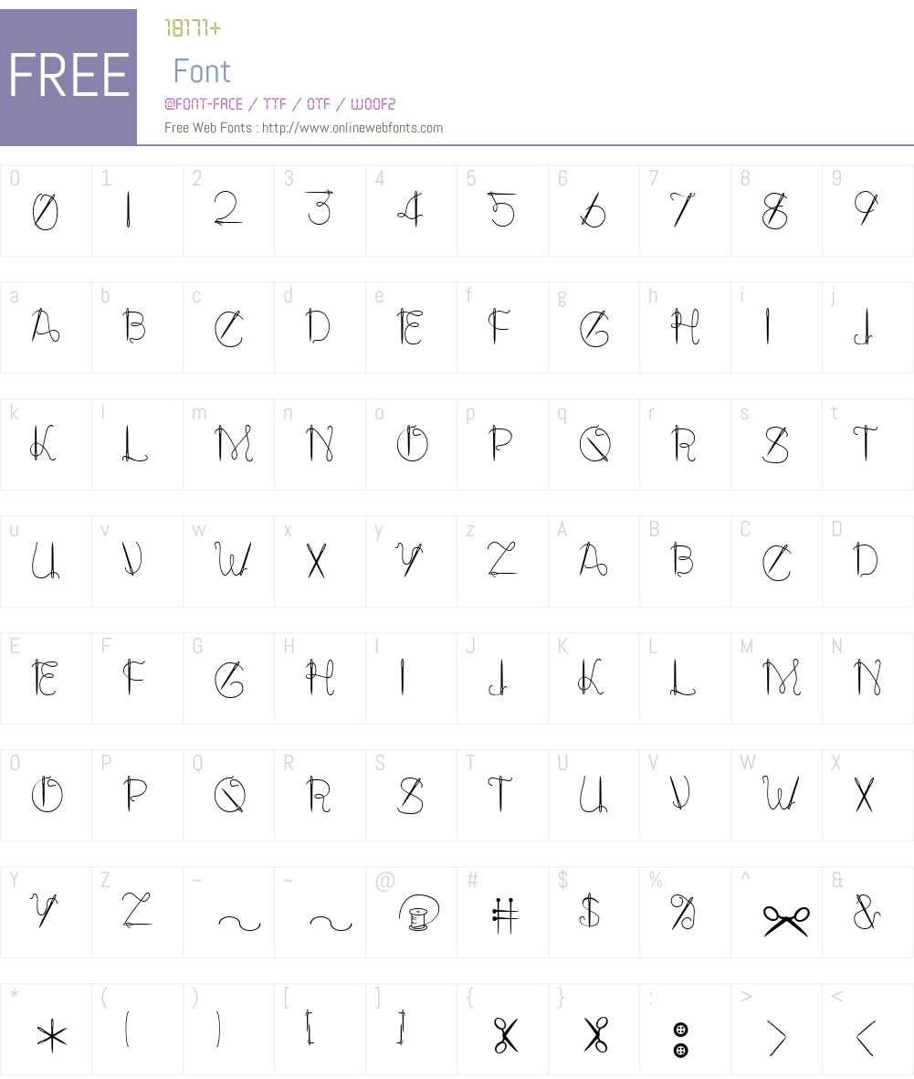 NeedALilly Font Screenshots
