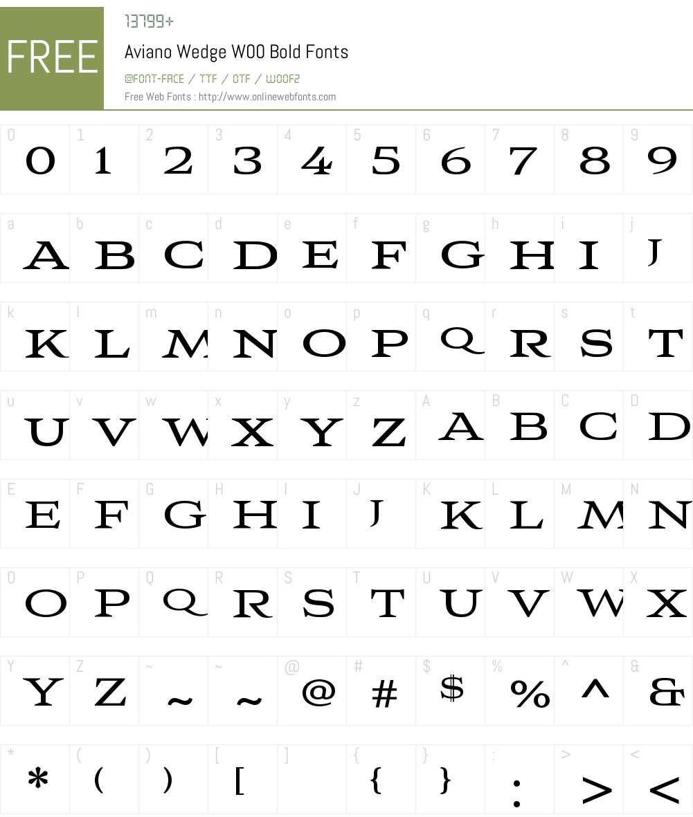 AvianoWedgeW00-Bold Font Screenshots